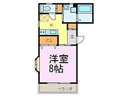YS青山[2B号室]の間取り