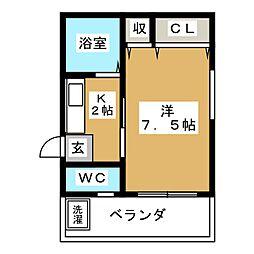 ホープフル上野[2階]の間取り