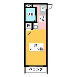 幸川マンション 縁[1階]の間取り