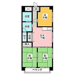 マンション山陽館[2階]の間取り