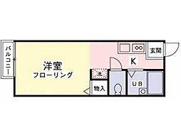 クレストコートC[2階]の間取り