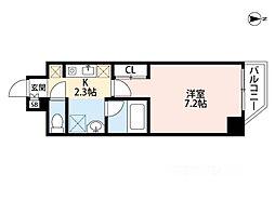 インペリアル桜川南III[4階]の間取り
