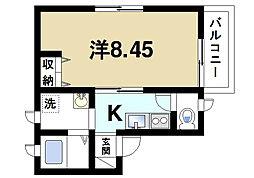 サンライズ尼ヶ辻P-1[1階]の間取り