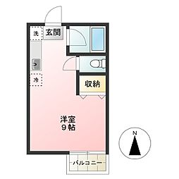 東京都調布市佐須町2丁目の賃貸アパートの間取り