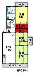 福岡県太宰府市国分3丁目の賃貸マンションの間取り