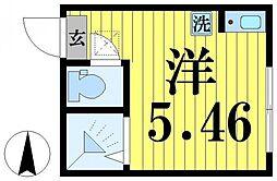 東京都足立区梅島3丁目の賃貸アパートの間取り