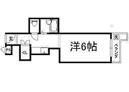 御所西シンワマンション[602号室]の間取り