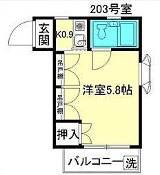 パークシャトー[2階]の間取り