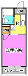 第六みずほ館[3階]の間取り