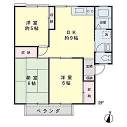 ハイム玉屋A棟[2階]の間取り