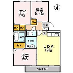 プリマヴェーラETO5[3階]の間取り