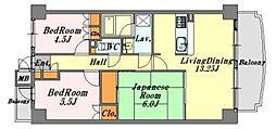 鶴見町・パークマンション[204号室号室]の間取り