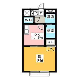 アムールA−1[2階]の間取り