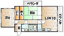 クラブハウス熊本[6階]の間取り