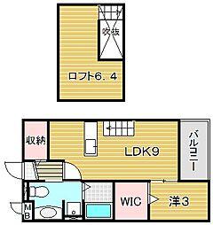 大阪府摂津市南別府町の賃貸アパートの間取り