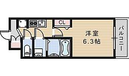 JR大阪環状線 桃谷駅 徒歩15分の賃貸マンション 5階1Kの間取り