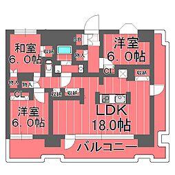 横浜ダイカンプラザスポーツメント[6階]の間取り