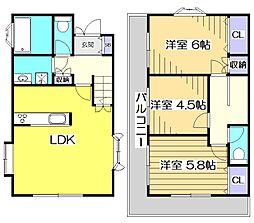 [一戸建] 東京都国分寺市戸倉3丁目 の賃貸【/】の間取り