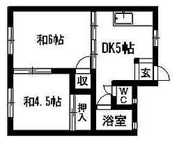 三組ハウス[1階]の間取り