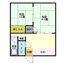 東舞鶴/コーポ丸山[(101号室)号室]の間取り