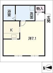 ロフト壱番館[2階]の間取り