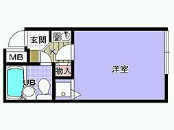 大阪府岸和田市下池田町2丁目の賃貸マンションの間取り