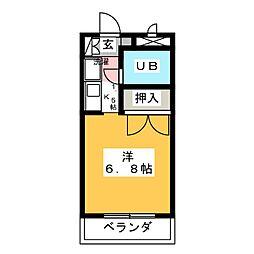 ユーハイムY・III[-3階]の間取り