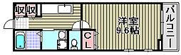 メゾン ボヌール日新[105号室]の間取り