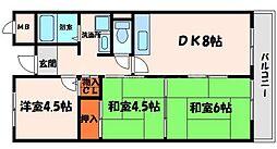 新橋中野マンション[5階]の間取り