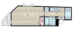 7755-ピアコートTM中村橋弐番館 5階1Kの間取り