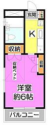シャトー上福岡[2階]の間取り