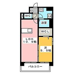 福岡県福岡市東区原田1丁目の賃貸マンションの間取り