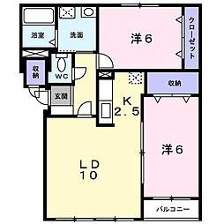 コンパーノB[2階]の間取り