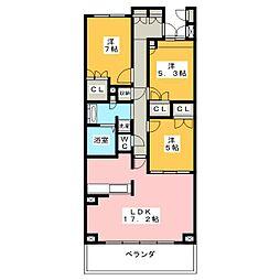 プライムメゾン富士見台[4階]の間取り