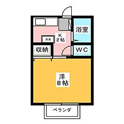 サンガーデン猪高台[2階]の間取り