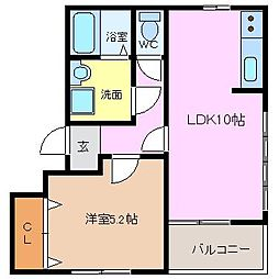 三重県四日市市ときわ5の賃貸マンションの間取り