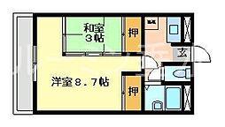 タウンハイツうれし野[6階]の間取り