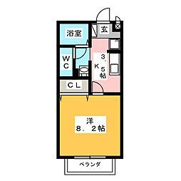 エスポワール長筬[1階]の間取り