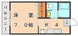 ラリーグラス22[2階]の間取り
