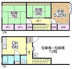 [タウンハウス] 東京都足立区関原2丁目 の賃貸【/】の間取り
