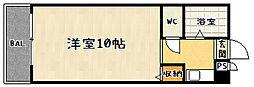 京都府京都市山科区小山中ノ川町の賃貸マンションの間取り