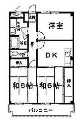 神奈川県相模原市中央区矢部3丁目の賃貸マンションの間取り