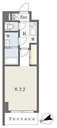 都営新宿線 船堀駅 徒歩5分の賃貸マンション 1階1Kの間取り