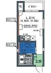 愛知県名古屋市南区柴田町3丁目の賃貸アパートの間取り