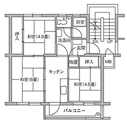 UR豊四季台[80-306号室]の間取り