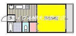 岡山県岡山市中区竹田丁目なしの賃貸マンションの間取り