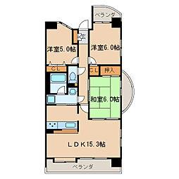 サンハウス橦木町[3階]の間取り