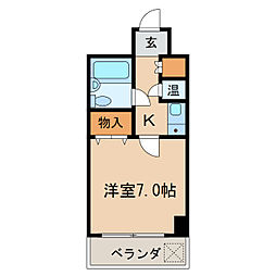 ラディアントⅢ[4階]の間取り