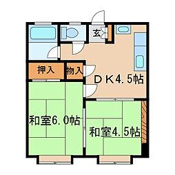 橦木ビル[4階]の間取り