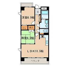 ロジェ新栄南[2階]の間取り